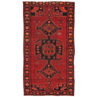 """Vintage Hamadan Wool Area Rug - 3'8"""" X 6'10"""""""