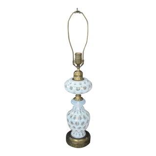 Vintage White Coin Dot Table Lamp