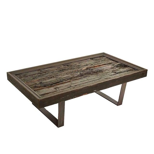 Rustic Wood And Metal Coffee Tables: Rustic Railway Wood & Metal Coffee Table