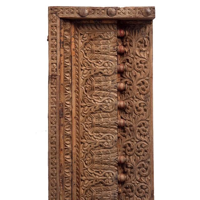 Antique Floral & Leaf Wood Carved Panel - Image 3 of 7