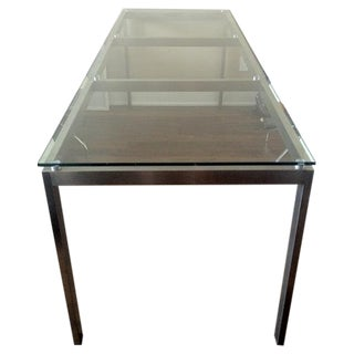 Custom Glass and Steel Dining Table
