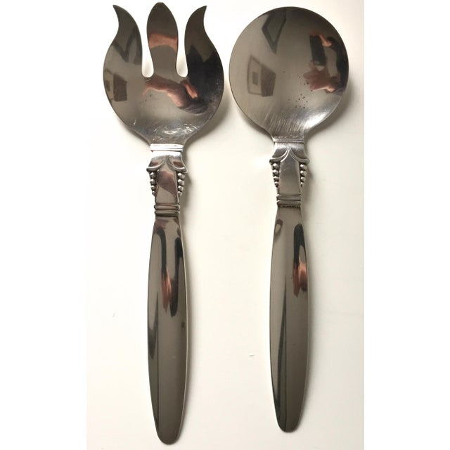 Image of Vintage Art Deco Silver Serving Utensils- A Pair