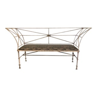 Etruscan Revival Iron Bench