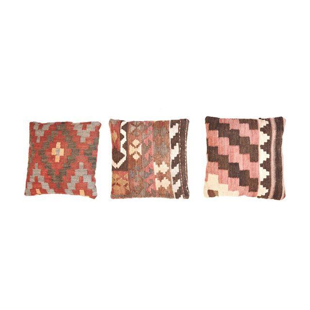 Turkish Kilim Pillows - Set of Three - Image 1 of 5