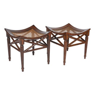 Rattan Thebes Stools - Pair