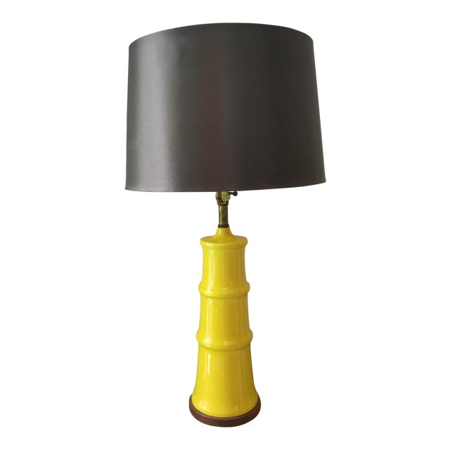 Yellow Bamboo Form Lamp - Image 1 of 7