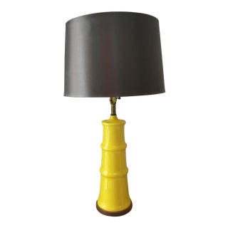 Yellow Bamboo Form Lamp