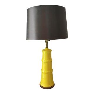 Yellow Bamboo Form Lamp