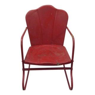 Mid-Century Child's Metal Rocking Chair