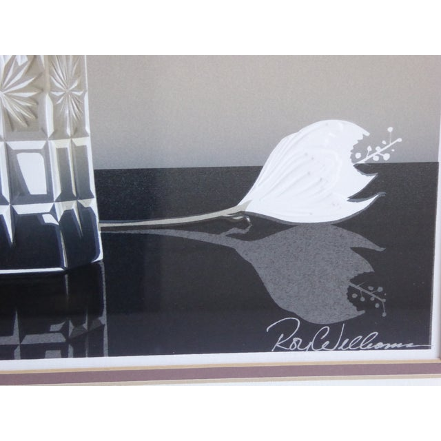 Roy Williams Crystal Hibiscus Embossed Serigraph - Image 4 of 6