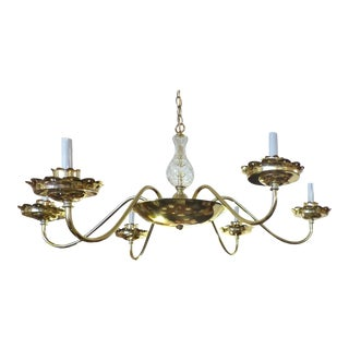 Restored Vintage Brass-Plated Chandelier -Pair Available