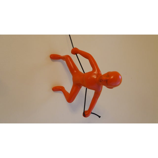 Orange Exclusive Position Climbing Man Wall Art - Image 3 of 4