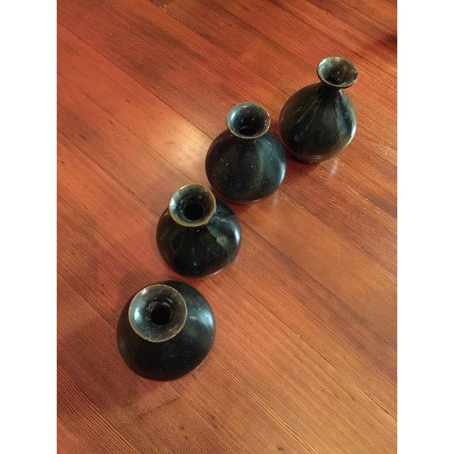 Vintage Stoneware Sake Bottles - Set of 4 - Image 3 of 5