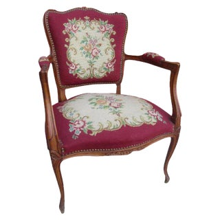 French Antique Needlepoint Chair