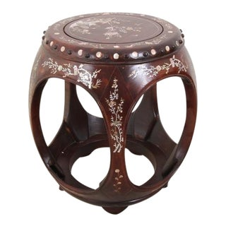Chinoiserie Mother-of-Pearl Inlay Accent Table