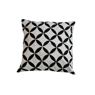M. Montague Flower Motif Cushion - Pair