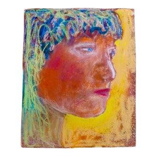 "Martha Holden ""Golden"" Mixed Media Drawing"