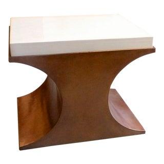 Cream Crescent Side Table