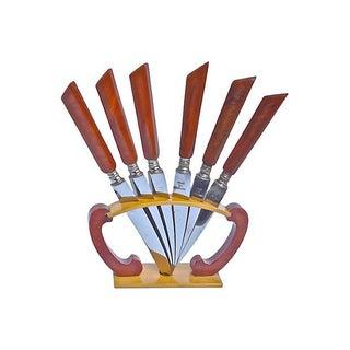 Art Deco Bakelite Cheese Knives - Set of 6
