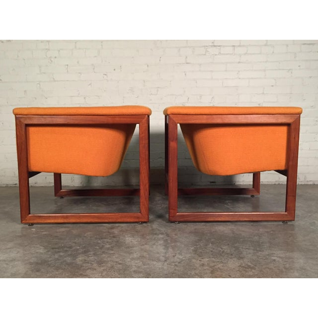 Milo Baughman Mid-Century Modern Floating Cube Chairs - A Pair - Image 6 of 10