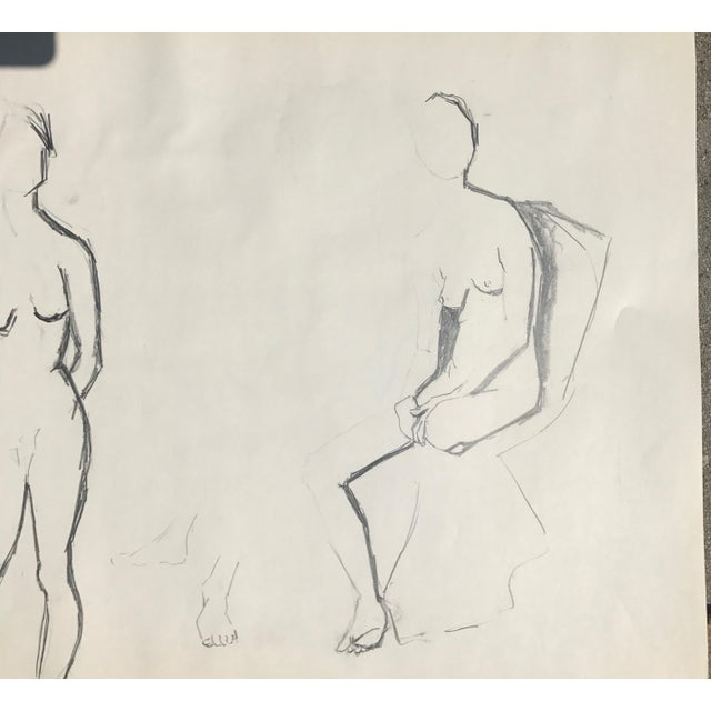 Original Two Nudes Sketch - Image 3 of 4