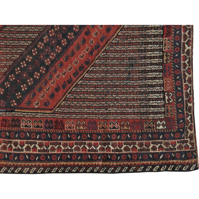 "Antique Persian Distressed Rug - 5'4"" X 10'1"" - Image 3 of 4"