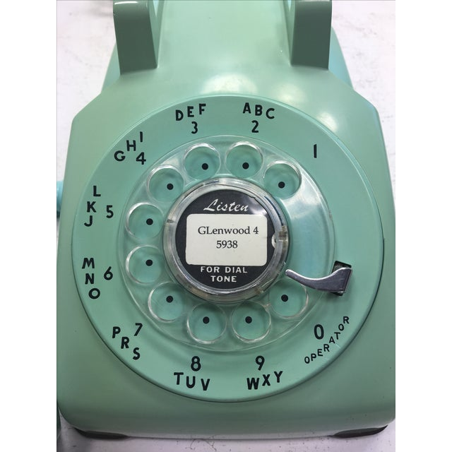 Turquoise 500 Rotary Dial Desk Phone - Image 10 of 11