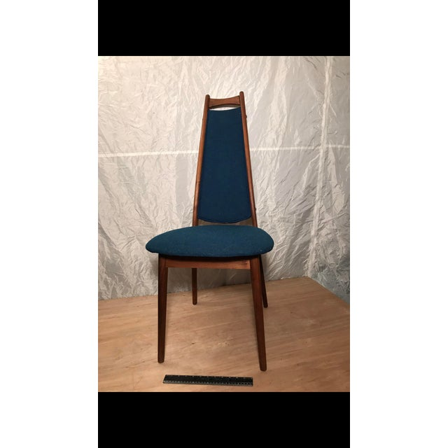 Mid-Century Blue Dining Chair - Image 6 of 6