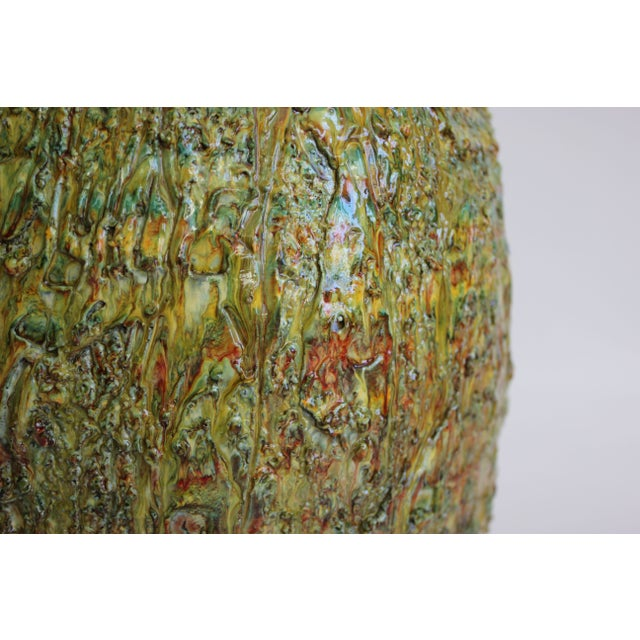 Chartreuse Volcanic Glaze Table Lamp - Image 3 of 6