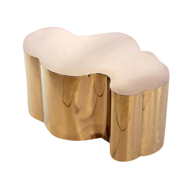 Kate Modern Rose Gold Stainless Steel Coffee Table - Image 3 of 3