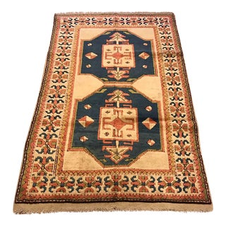 Vintage Kars Turkish Semi-Antique Rug - 4'3'' X 6'8''