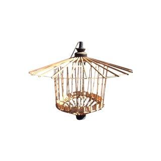 Mid-Century Modern Bamboo Asian Lantern