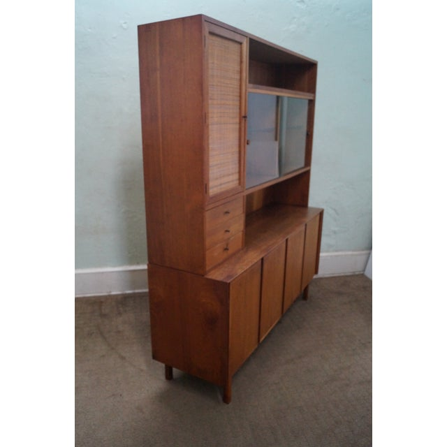 Danish Modern Style Teak Buffet Base Hutch Cabinet - Image 3 of 10