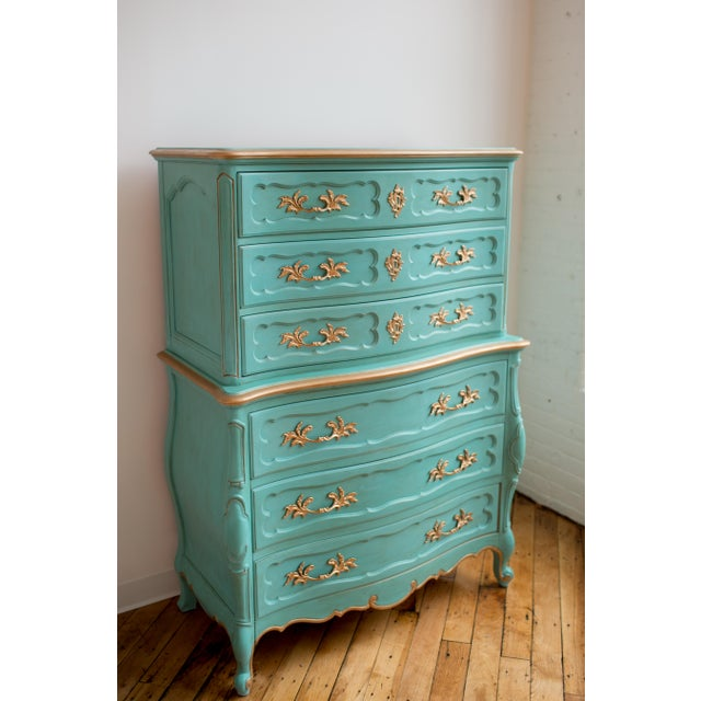 French Blue Thomasville Dresser - Image 6 of 6