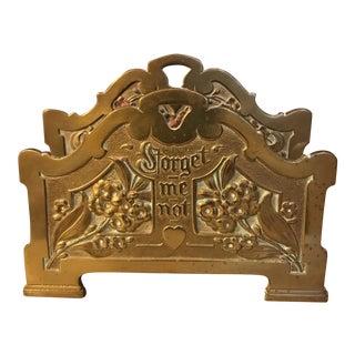 Art Nouveau Brass Letter Holder