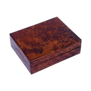 Decorative Juniper Burl Wood Box