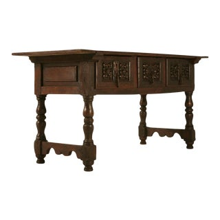 Spanish Console Table With Three Deep Drawers