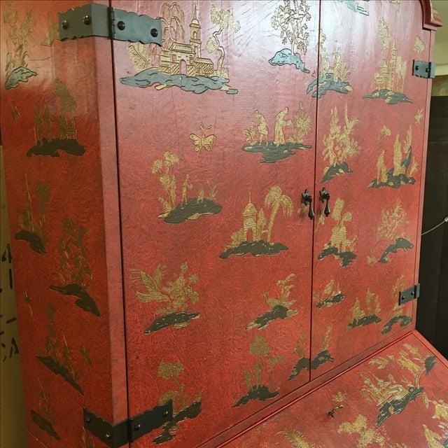 Baker Red Chinoiserie Desk - Image 10 of 11