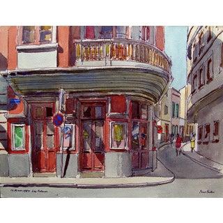 "Paul Parker ""Las Palmas"" Watercolor Painting"