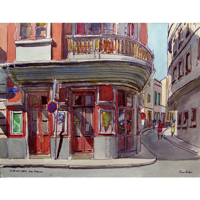 "Image of Paul Parker ""Las Palmas"" Watercolor Painting"