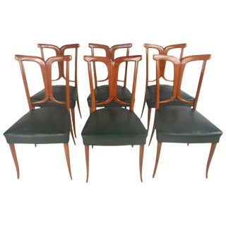 Osvaldo Borsani Inspired Mid-Century Italian Dining Chairs - Set of 6