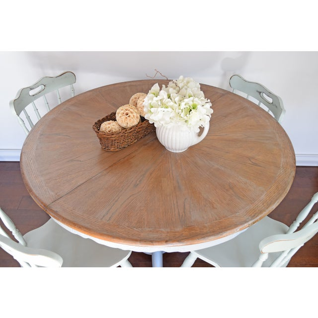 Chalk Painted French Country Dining Table - Image 5 of 7