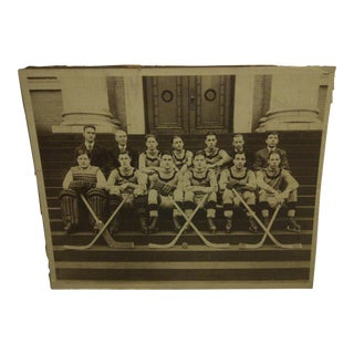 """Vintage Black & White Photograph of """"Pittsburgh Hockey League"""", 1918-1920"""