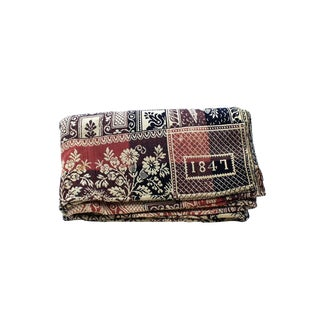 1840s Indigo & Rose Double Woven Blanket