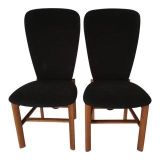 Mid-Century Teak Accent Chairs - Pair