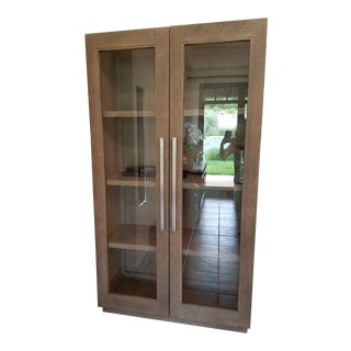 Restoration Hardware Grand Framed Glass Double-Door Cabinet