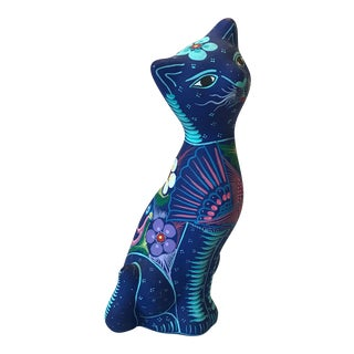 Folk Art Cat Figurine