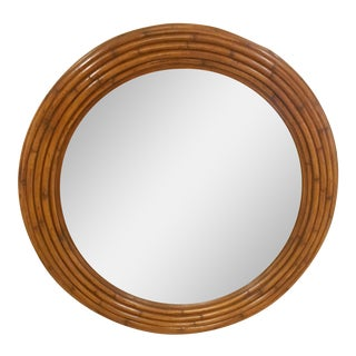 Ethan Allen Willow Round Mirror