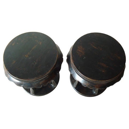 Image of Chinese Low Table Stools - A Pair