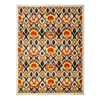 """Suzani Hand Knotted Area Rug - 10'0"""" X 13'3"""""""